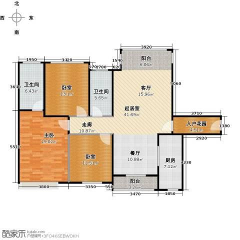 南沙创鸿汇1室0厅2卫1厨122.00㎡户型图