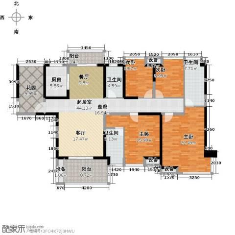美的城4室0厅3卫1厨180.00㎡户型图