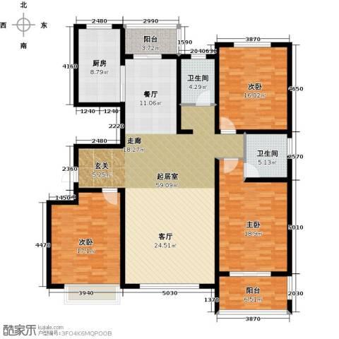 玉香园3室0厅2卫1厨196.00㎡户型图