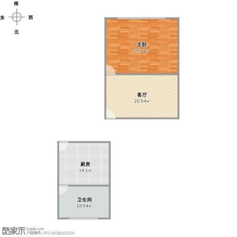 宜川六村1室1厅1卫1厨94.00㎡户型图