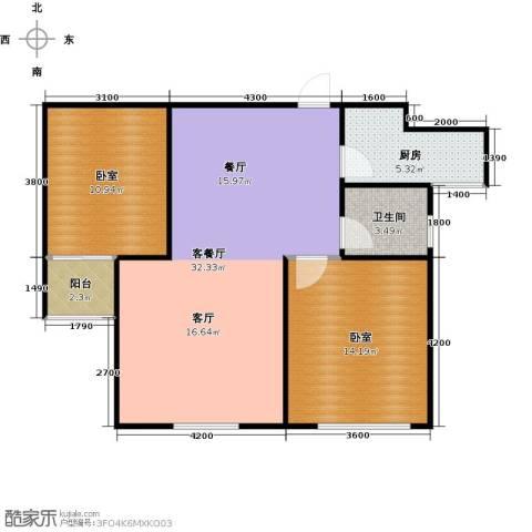 城发花园1厅1卫1厨89.00㎡户型图