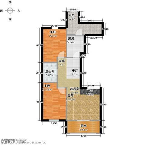V时代2室0厅1卫1厨98.00㎡户型图