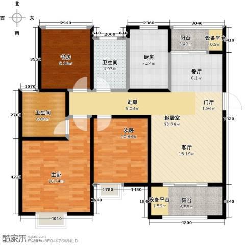 旭辉苹果乐园3室0厅2卫1厨110.00㎡户型图