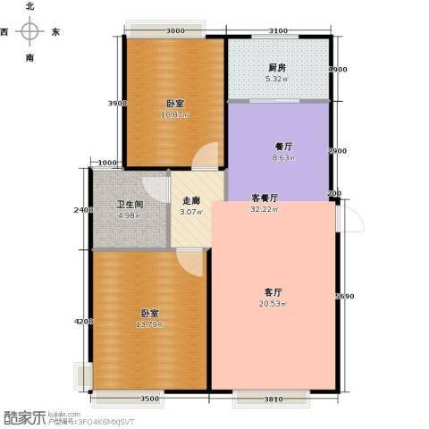 城发花园1厅1卫1厨88.00㎡户型图