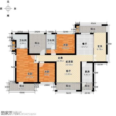 金沙世纪城3室0厅2卫1厨139.00㎡户型图