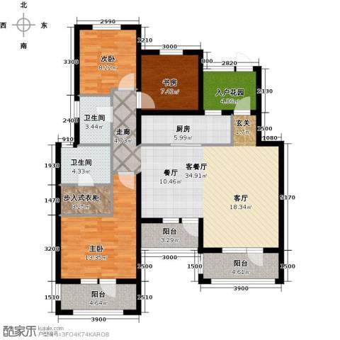 尚湖骏城3室1厅2卫1厨139.00㎡户型图