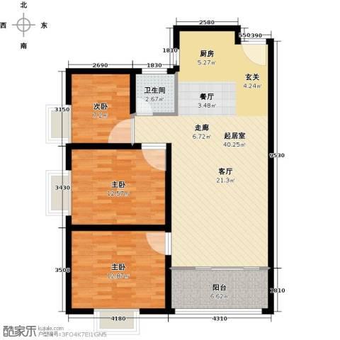 德化优山美地3室0厅1卫0厨115.00㎡户型图