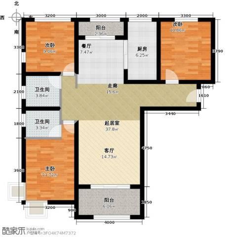 紫郡3室0厅2卫1厨133.00㎡户型图