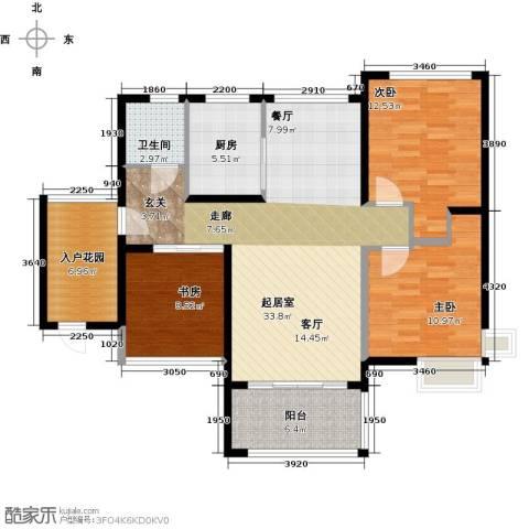 金祥・万卷山3室0厅1卫1厨103.00㎡户型图