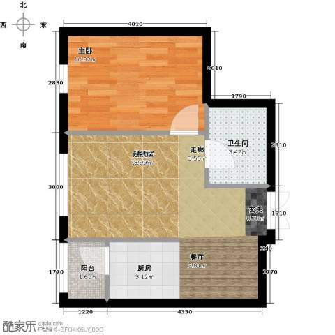 V时代1室0厅1卫0厨50.00㎡户型图