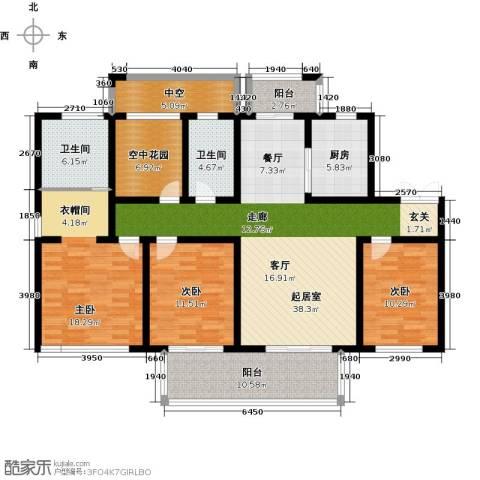 津西新天地3室0厅2卫1厨140.00㎡户型图