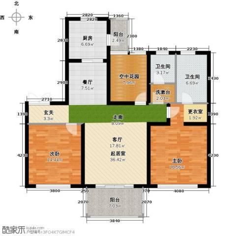 津西新天地2室0厅2卫1厨120.00㎡户型图
