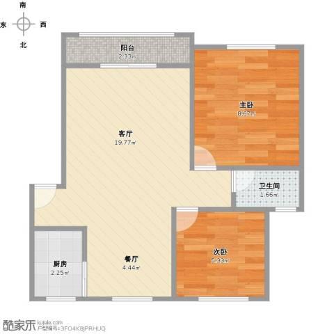 安居朝阳园2室1厅1卫1厨55.00㎡户型图