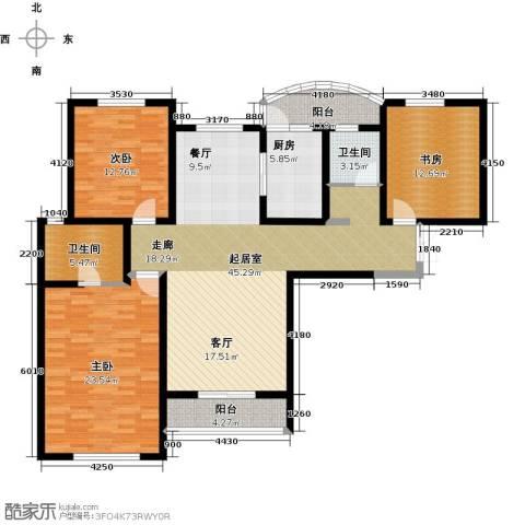 国润城3室0厅2卫1厨167.00㎡户型图