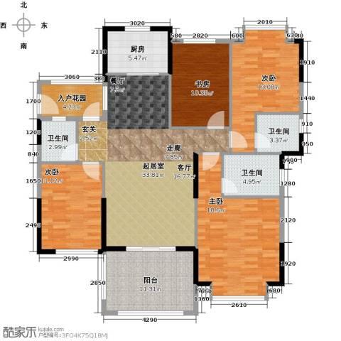 尚城雅苑4室0厅3卫1厨165.00㎡户型图