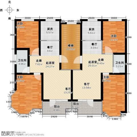 紫金园阳光海岸4室0厅2卫2厨201.00㎡户型图