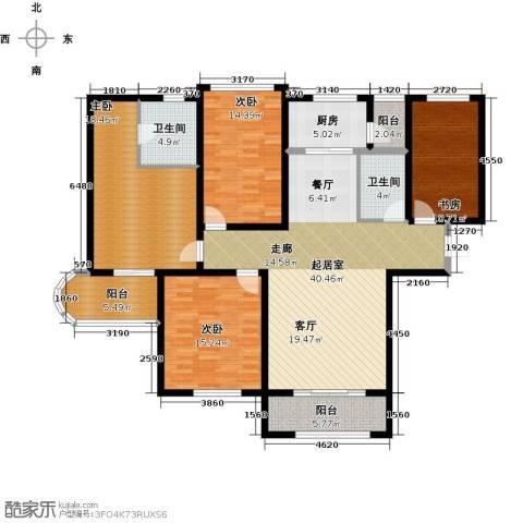 国润城4室0厅2卫1厨181.00㎡户型图