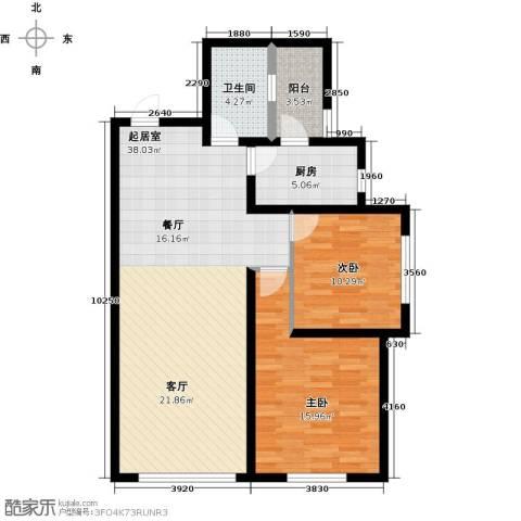 国润城2室0厅1卫1厨109.00㎡户型图