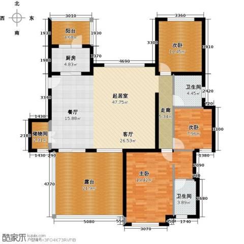 国润城3室0厅2卫1厨181.00㎡户型图