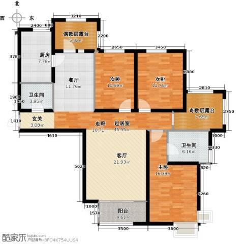 金屋秦皇半岛3室0厅2卫1厨138.00㎡户型图