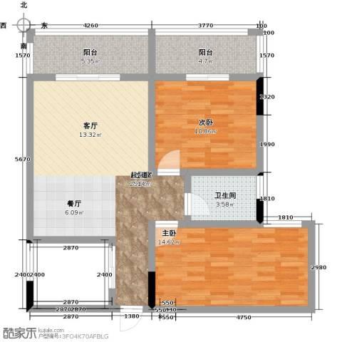 昌泰千秋大厦2室0厅1卫1厨85.00㎡户型图