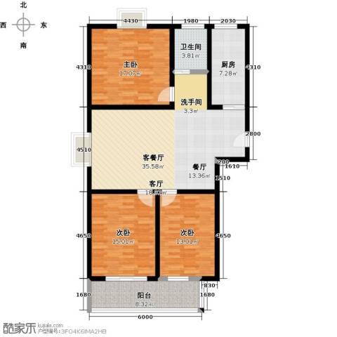 盛祥佳苑3室1厅1卫1厨114.00㎡户型图