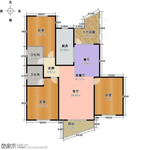 东辰清风港1厅2卫1厨147.00㎡户型图