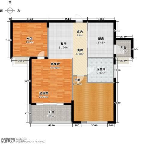 祥隆理想城2室1厅1卫1厨123.00㎡户型图