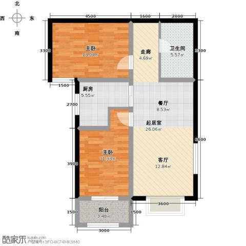 紫郡2室0厅1卫1厨95.00㎡户型图