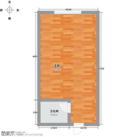 昌泰千秋大厦1室0厅1卫0厨40.00㎡户型图