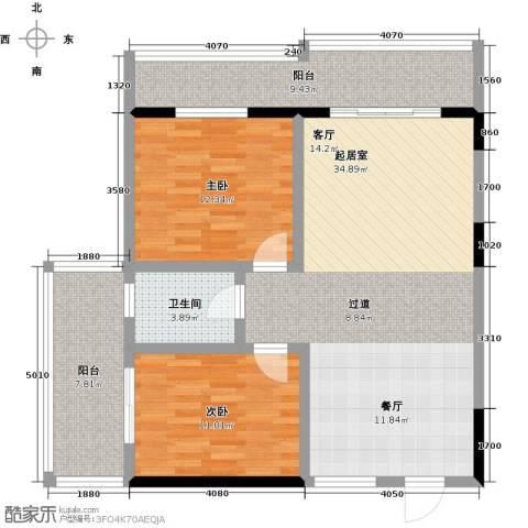 昌泰千秋大厦2室0厅1卫0厨91.00㎡户型图