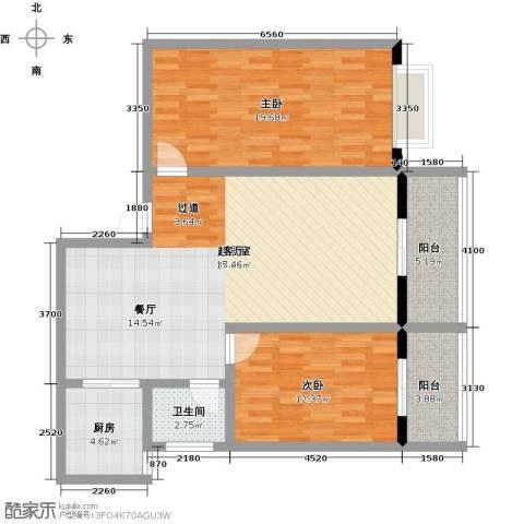 昌泰千秋大厦2室0厅1卫1厨96.00㎡户型图