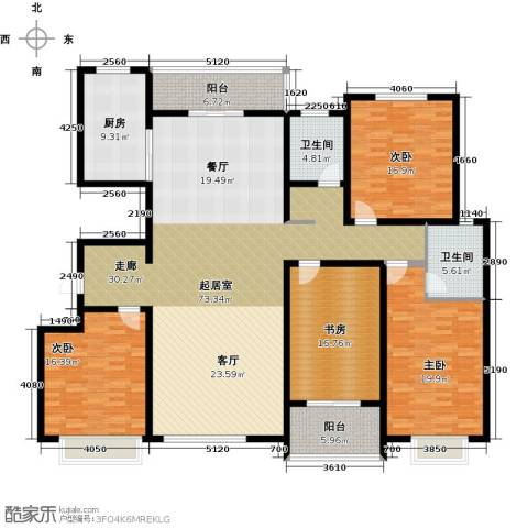 玉香园4室0厅2卫1厨246.00㎡户型图