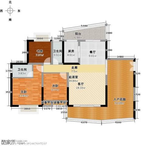 正和中州3室0厅2卫1厨133.00㎡户型图
