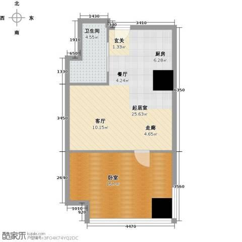 金海名园1卫0厨53.00㎡户型图