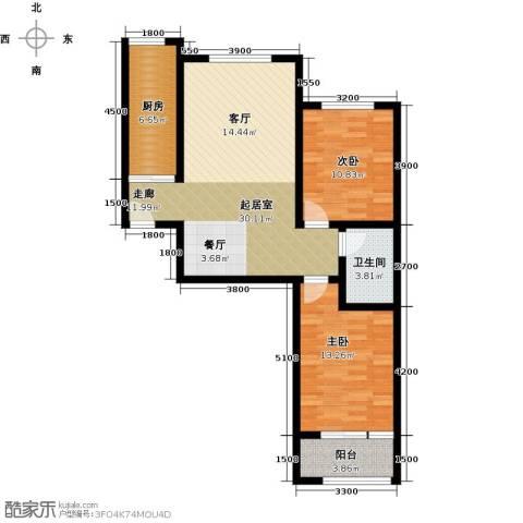 紫郡2室0厅1卫1厨99.00㎡户型图
