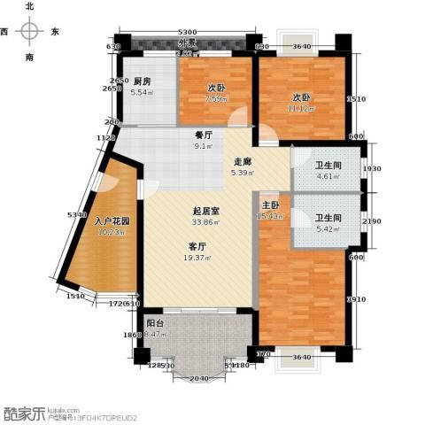 御峰臻品3室0厅2卫1厨131.00㎡户型图