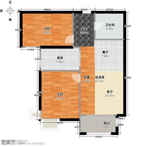 金屋秦皇半岛2室0厅1卫1厨109.00㎡户型图