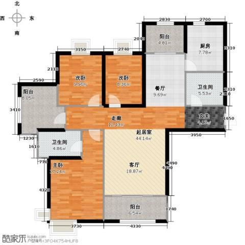 金屋秦皇半岛3室0厅2卫1厨164.00㎡户型图