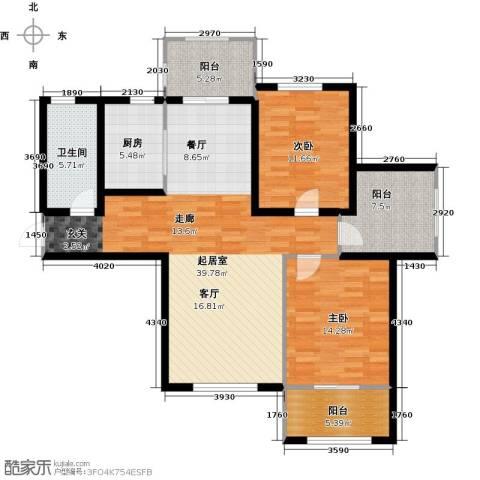 金屋秦皇半岛2室0厅1卫1厨134.00㎡户型图