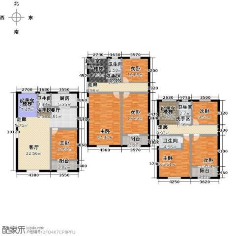 向阳花园7室0厅4卫1厨249.00㎡户型图