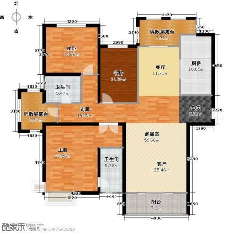 金屋秦皇半岛3室0厅2卫1厨169.00㎡户型图