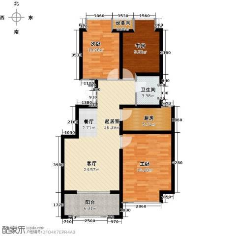 荣盛・香缇澜山3室0厅1卫1厨100.00㎡户型图