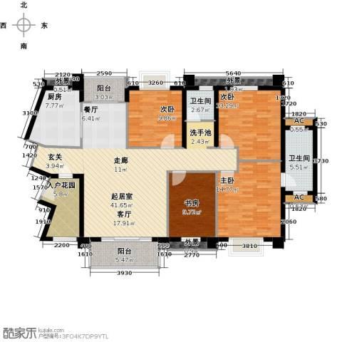 御峰臻品4室0厅2卫1厨136.00㎡户型图