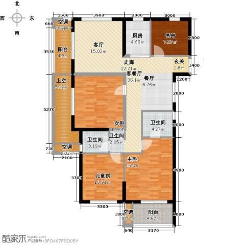 云峰苑4室1厅2卫1厨132.00㎡户型图