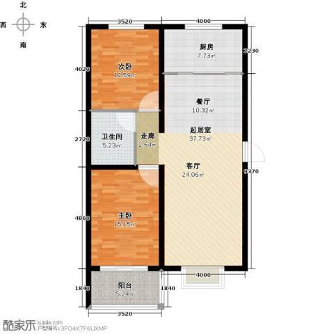 华舜学府2室0厅1卫1厨94.00㎡户型图