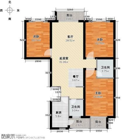 天水丽城二期3室0厅2卫1厨135.00㎡户型图