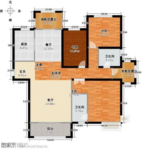 金屋秦皇半岛3室0厅2卫1厨168.00㎡户型图