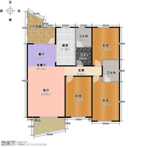 东辰清风港1厅2卫1厨146.00㎡户型图