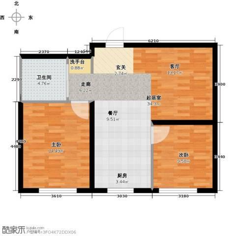中顺福苑2室0厅1卫0厨70.00㎡户型图